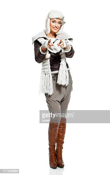 winter fashion woman - izusek stock pictures, royalty-free photos & images