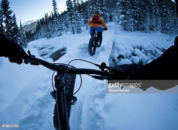 Winter Fett Radfahren