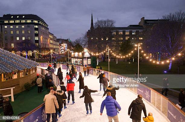 Winter Festival Ice Skating in Edinburgh City Centre