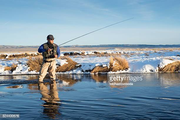 Winter Fly Fisherman