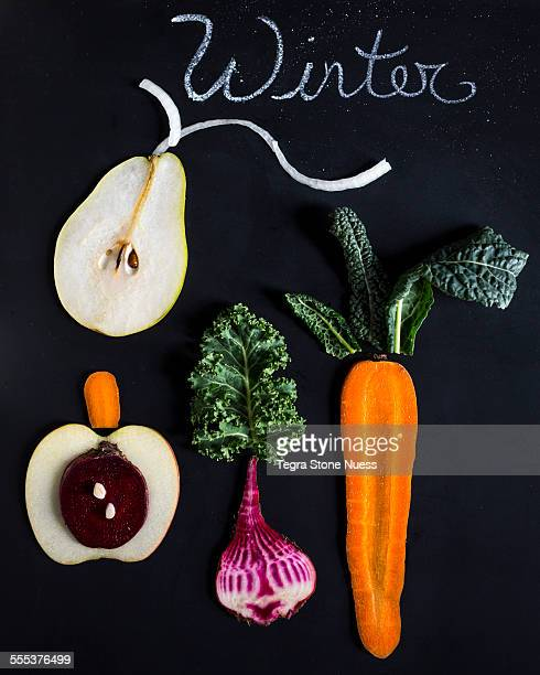 Winter fruit and vegetables