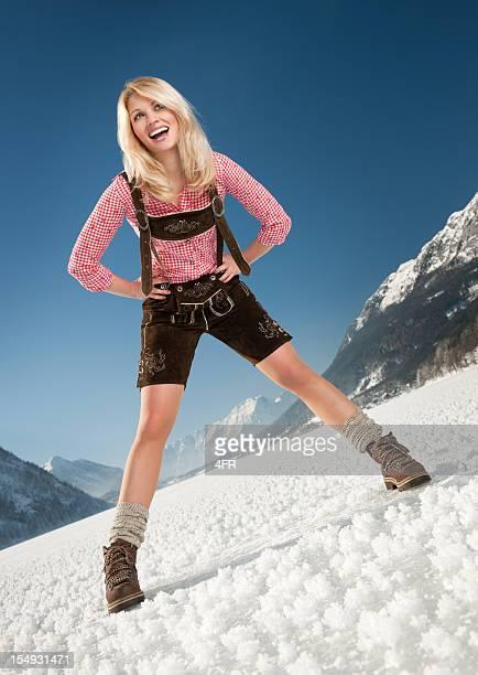 Winter Spaß in Lederhose-Trachtenmode (XXXL