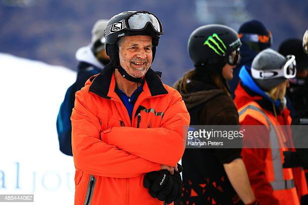 Winter Games NZ CEO Arthur Klap smiles following the FIS Freestyle Ski World Cup Slopestyle Finals during the Winter Games NZ at Cardrona Alpine...