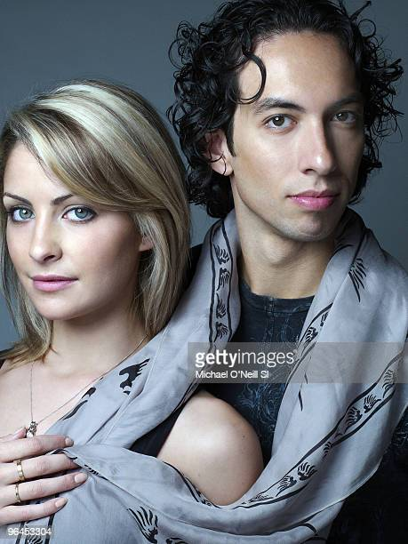 Figure Skating USA ice dancing athletes Tanith Belbin and Ben Agosto 2010 Vancouver Olympic Games Preview at a portrait shoot in Chicago IL on...