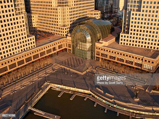 winter garden atrium at the world financial center - world financial center new york city stock pictures, royalty-free photos & images