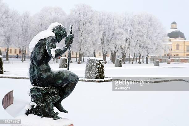 winter gardens at drottningholm palace (sweden) - drottningholm palace stock pictures, royalty-free photos & images