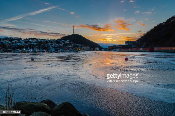 winter have arrived egersund (2016) - egersund stock photos and pictures