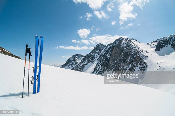 Winter High Mountain Landscape with ski