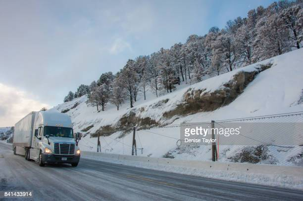 Winter highway trucking