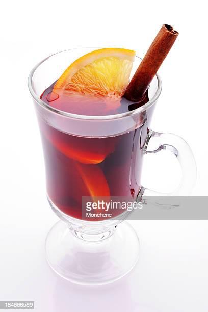 Bebida caliente en invierno, blanco