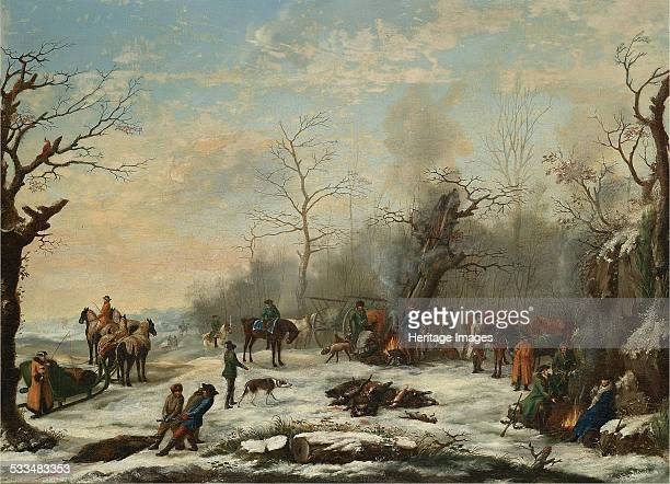 Winter Hunt Mid of the 19th cen Private Collection