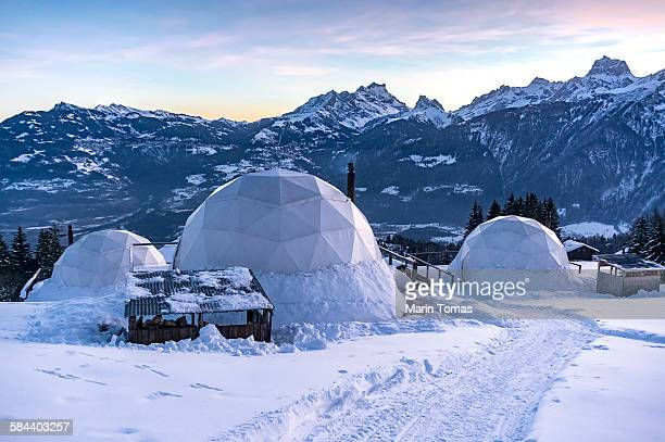 Winter igloos