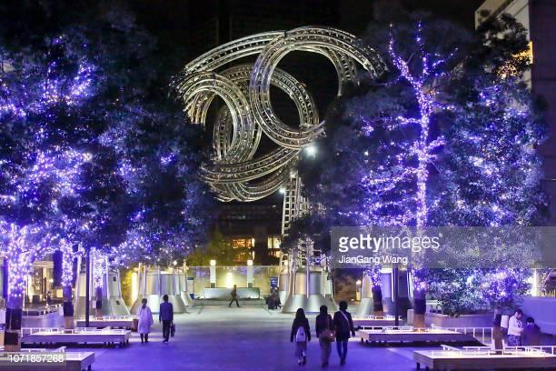 inverno de 2018 iluminação - yokohama milight - novembro azul - fotografias e filmes do acervo