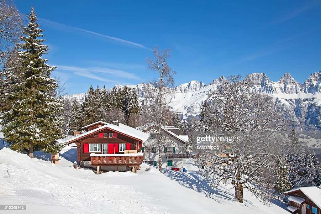 Winter in alps : Stock Photo