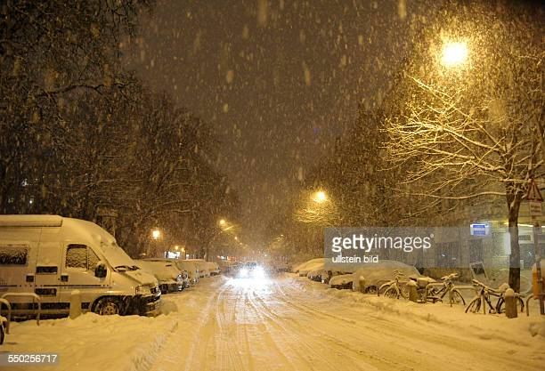 Winter in Berlin - Stargarder Strasse in Prenzlauer Berg