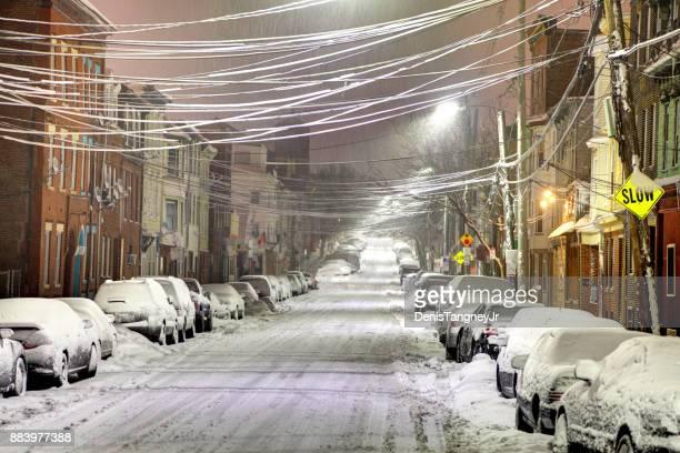 Winter in Boston's East Boston neighborhood