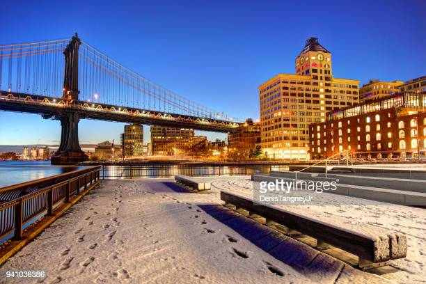 winter in brooklyn new york city - dumbo stock pictures, royalty-free photos & images