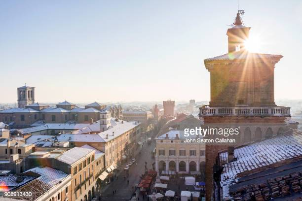 Winter in Ferrara, with Snow