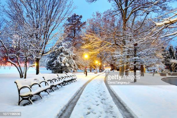 ハートフォード、コネチカット州の冬 - コネチカット州ハートフォード ストックフォトと画像