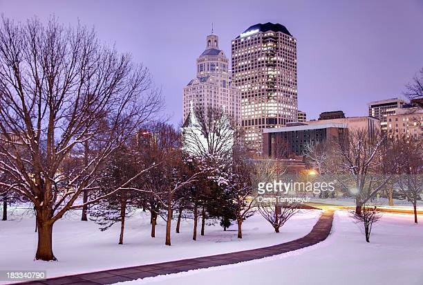 winter in hartford - hartford connecticut stock pictures, royalty-free photos & images