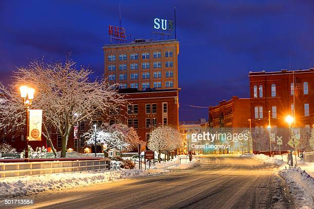 winter in lowell - lowell massachusetts stock pictures, royalty-free photos & images
