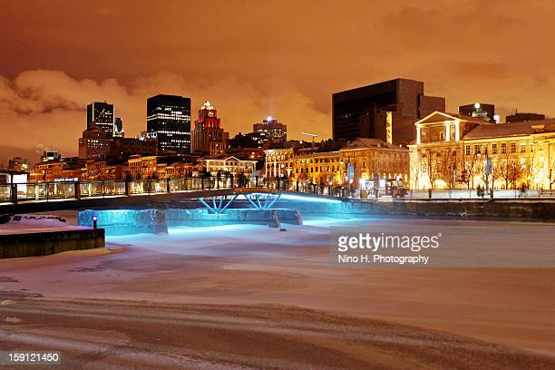 Winter in Montreal at night