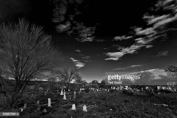 Winter in New Mexico The church graveyard which photographer Ansel Adams made famous in his iconic photograph Moonrise Over Hernandez