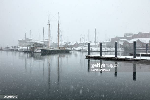winter in newport, rhode island - newport rhode island stock pictures, royalty-free photos & images
