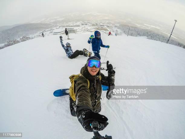 winter in niseko, japan. - スキー板 ストックフォトと画像