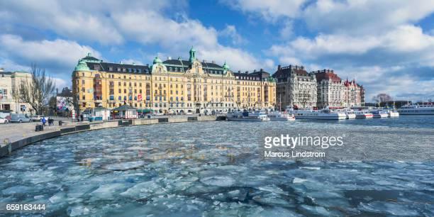 Winter in Nybroviken, Stockholm