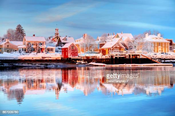 winter in portsmouth, new hampshire - new hampshire stock pictures, royalty-free photos & images