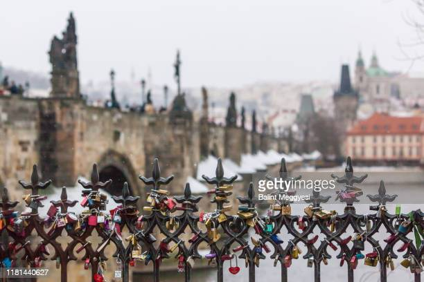 winter in prague - bohemia czech republic stock pictures, royalty-free photos & images