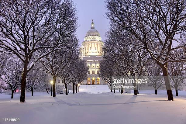 winter in rhode island - rhode island stock pictures, royalty-free photos & images
