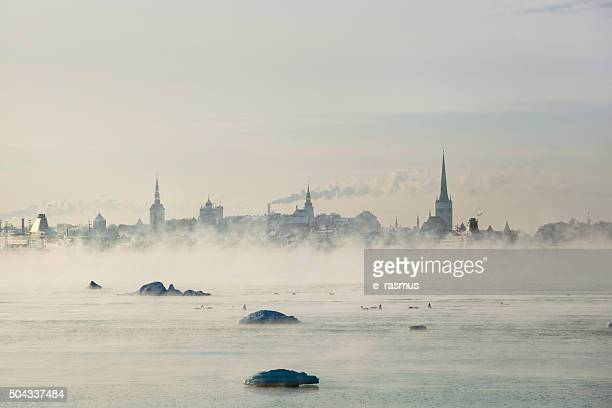 winter in tallinn - estonia stock photos and pictures