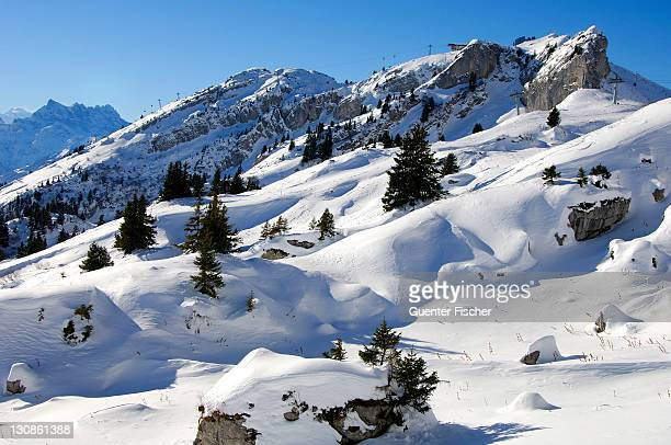 Winter in the alps, Berneuse, Dents du Midi, Leysin, Switzerland