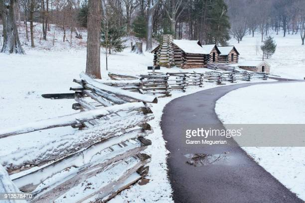 winter in valley forge - pennsylvania stock pictures, royalty-free photos & images