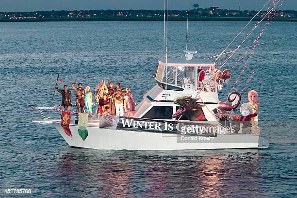 Winter Is Coming attends the Night In Venice Boat Parade at Back Bay of Ocean City on July 26 2014 in Ocean City New Jersey