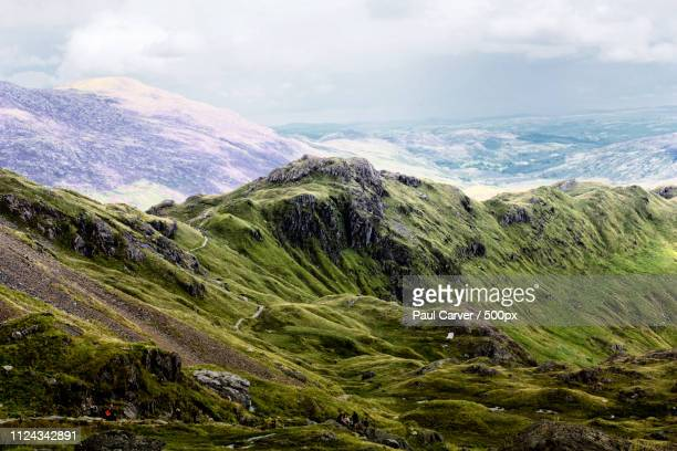 winter is coming - mount snowdon stock photos and pictures