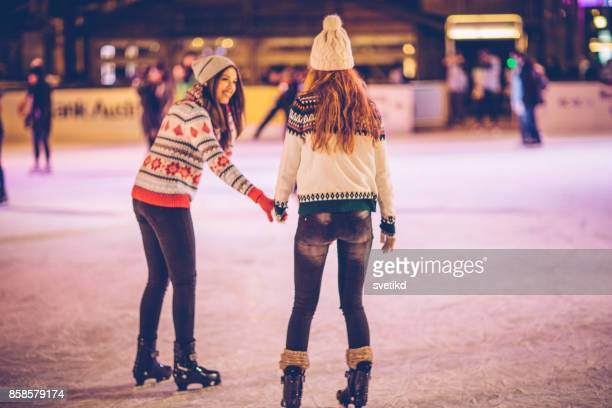 winter is for fun - ice skate stock pictures, royalty-free photos & images