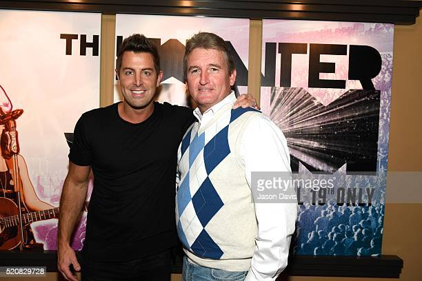 Winter Jam Producer Troy VanLiere and Recording Artist Jeremy Camp arrive at the This Is Winter Jam Nashville Red Carpet Premiere on April 12 2016 in...