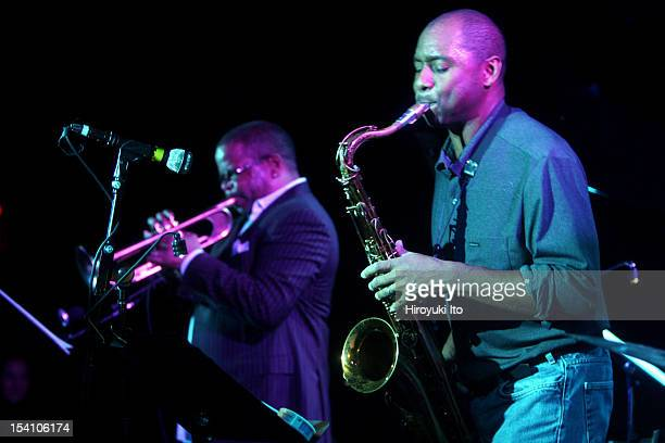 Winter Jazzfest in three different locations in West Village on Saturday night January 10 2009This imageTerence Blanchard left and Branford Marsalis...