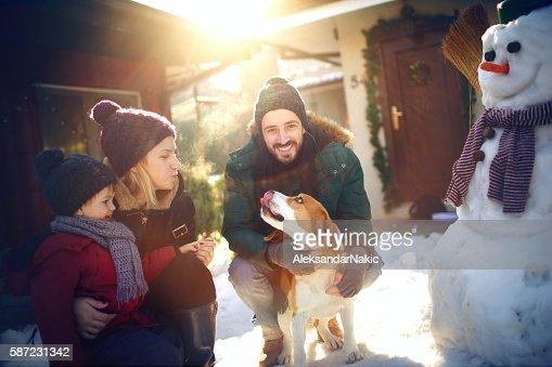 Winter joy on the snow