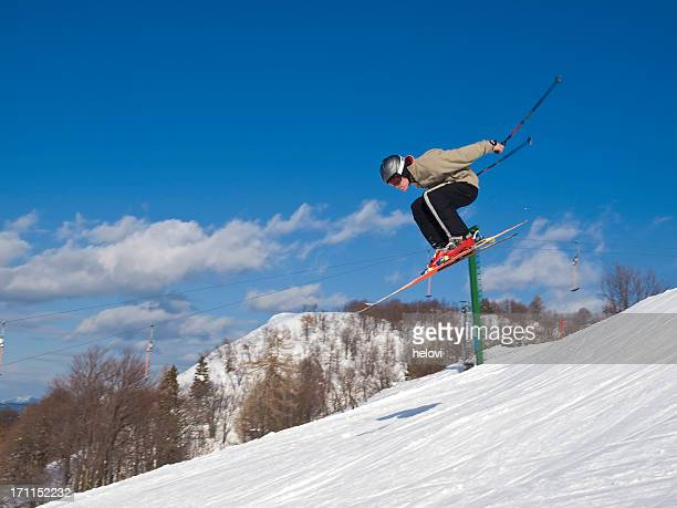winter joy - ski jumping stock pictures, royalty-free photos & images