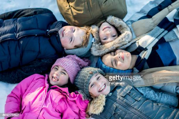 winter kids - winter coat stock pictures, royalty-free photos & images