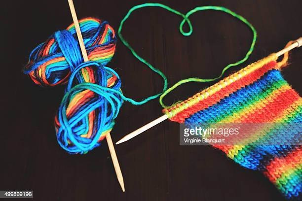 winter knitting, need colors during winter season - snood headwear stock photos and pictures