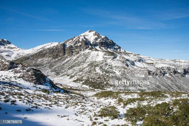 winter landscape around san isidro ski resort, leon, castile and leon, spain - león province spain stock pictures, royalty-free photos & images