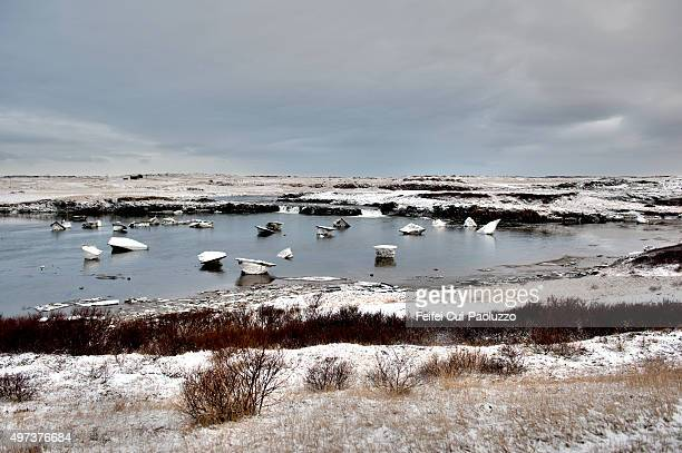 Winter landscape at Borgarnes