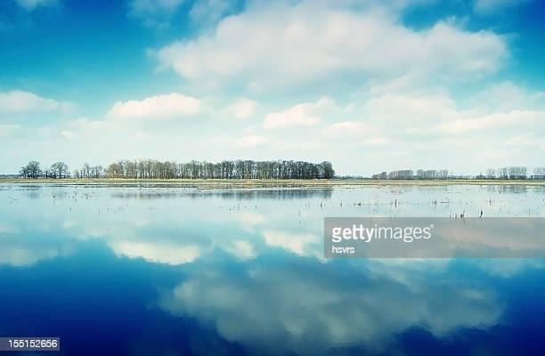 winter-Landschaft in Havelbrücke (Deutschland)
