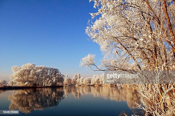 winter landscape at Havel River (Germany)