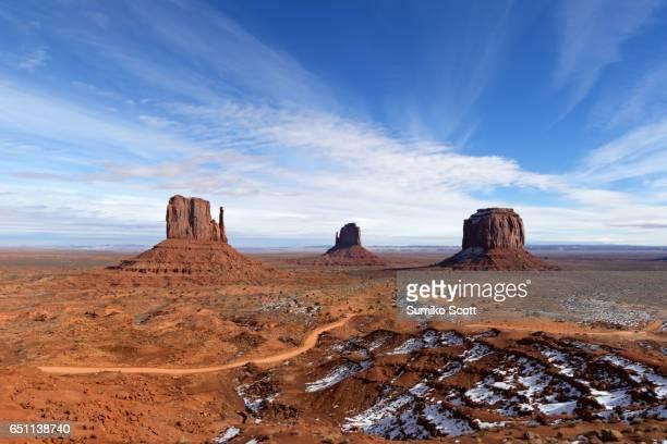 Winter landscape at Monument Valley Navajo Tribal Park